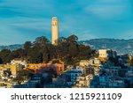 coit tower in san francisco | Shutterstock . vector #1215921109