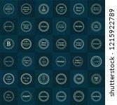 set fractal and swirl business... | Shutterstock .eps vector #1215922789