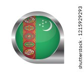 flag of turkmenistan  location... | Shutterstock .eps vector #1215929293