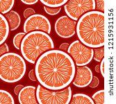 seamless pattern with orange... | Shutterstock .eps vector #1215931156