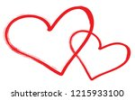 hearts vector. hand drawn icons.... | Shutterstock .eps vector #1215933100