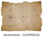 vector set of sacred geometric... | Shutterstock .eps vector #1215934126