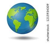 earth globe isolated on white... | Shutterstock .eps vector #1215934309