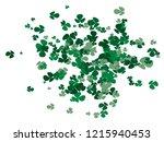 green bright shamrock confetti... | Shutterstock .eps vector #1215940453