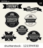 vector surfer set | Shutterstock .eps vector #121594930