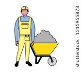 builder character with... | Shutterstock .eps vector #1215955873
