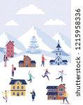 winter vacations christmas | Shutterstock .eps vector #1215958336