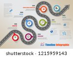 business road map timeline... | Shutterstock .eps vector #1215959143