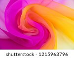 texture chiffon fabric pink and ... | Shutterstock . vector #1215963796