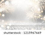 gold and silver fireworks and... | Shutterstock . vector #1215967669