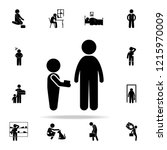 beggar childe icon. poor peaple ...   Shutterstock .eps vector #1215970009