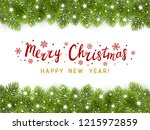 christmas tree border with... | Shutterstock .eps vector #1215972859