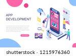 modern flat design isometric... | Shutterstock .eps vector #1215976360