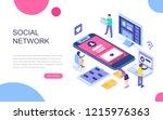 modern flat design isometric... | Shutterstock .eps vector #1215976363