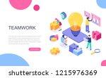 modern flat design isometric... | Shutterstock .eps vector #1215976369