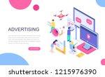 modern flat design isometric... | Shutterstock .eps vector #1215976390