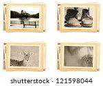 vintage photos retro style | Shutterstock . vector #121598044