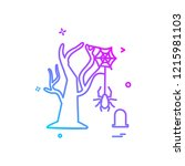 halloween icon design vector   Shutterstock .eps vector #1215981103