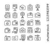 camera icons set  line design | Shutterstock .eps vector #1215983599