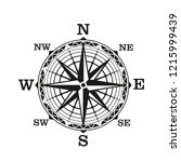 compass wind rose  vector icon. ... | Shutterstock .eps vector #1215999439