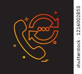 call icon design vector | Shutterstock .eps vector #1216002853