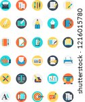 set of writer icon with many...   Shutterstock .eps vector #1216015780