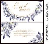 vintage delicate greeting...   Shutterstock . vector #1216024606