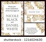 vintage delicate greeting... | Shutterstock . vector #1216024630