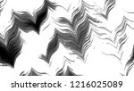 black and white horizontal wavy ... | Shutterstock . vector #1216025089