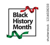 black history month vector... | Shutterstock .eps vector #1216028233