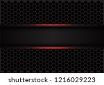 abstract red line black banner... | Shutterstock .eps vector #1216029223