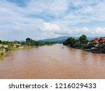tha ton river in mae ai... | Shutterstock . vector #1216029433