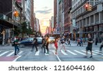 new york city   july  2018 ... | Shutterstock . vector #1216044160