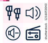 contains such icons as audio ... | Shutterstock .eps vector #1216053043