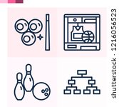 contains such icons as playoff  ... | Shutterstock .eps vector #1216056523