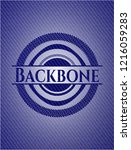 backbone badge with denim... | Shutterstock .eps vector #1216059283