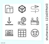 simple set of 9 icons related...   Shutterstock .eps vector #1216059643