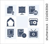 simple set of 9 icons related... | Shutterstock . vector #1216063060