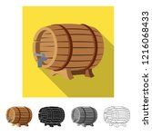 vector design of pub and bar... | Shutterstock .eps vector #1216068433
