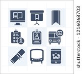 simple set of 9 icons related... | Shutterstock .eps vector #1216068703