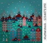 hand drawn doodle frames... | Shutterstock .eps vector #1216071193