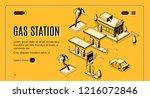 gas station isometric vector... | Shutterstock .eps vector #1216072846