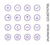 arrow vector icon set. outline. ... | Shutterstock .eps vector #1216074706