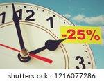 time for a twenty five percent... | Shutterstock . vector #1216077286