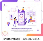 modern flat vector illustration ... | Shutterstock .eps vector #1216077316