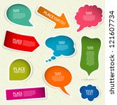 set of speech and thought... | Shutterstock . vector #121607734