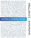 shopping and e commerce vector...   Shutterstock .eps vector #1216077466