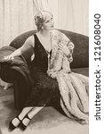 Fancy Lady In 1920s Style...
