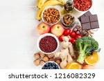 food sources of natural... | Shutterstock . vector #1216082329