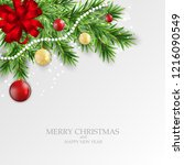 abstract holiday new year and... | Shutterstock .eps vector #1216090549